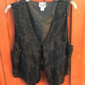 Vintage 90s beaded blouse vest sleeveless